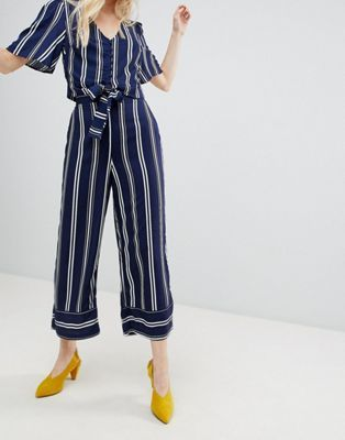acb5fa8d New Look Stripe Wide Leg Crop PANTS Two-Piece | Wish List | Wide leg ...