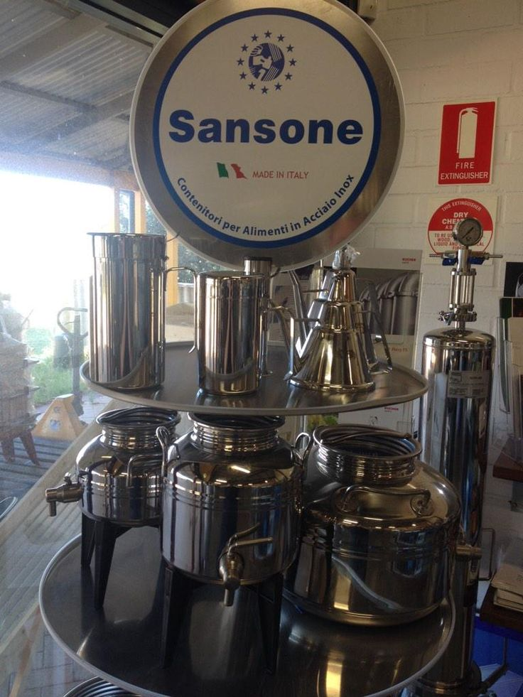 Check out our new #Sansone #Olive Oil container and accessories display!