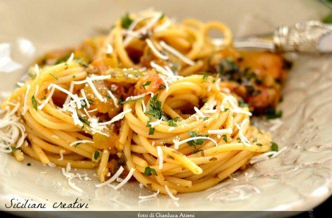 Spaghetti ai pomodori verdi | SICILIANI CREATIVI IN CUCINA | di Ada Parisi