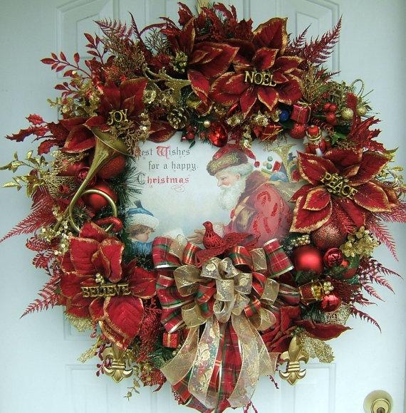 pretty traditional wreath