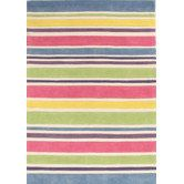 Found it at Temple & Webster - Curious Owl Gelato Striped Kid's Rug by Network Rugs