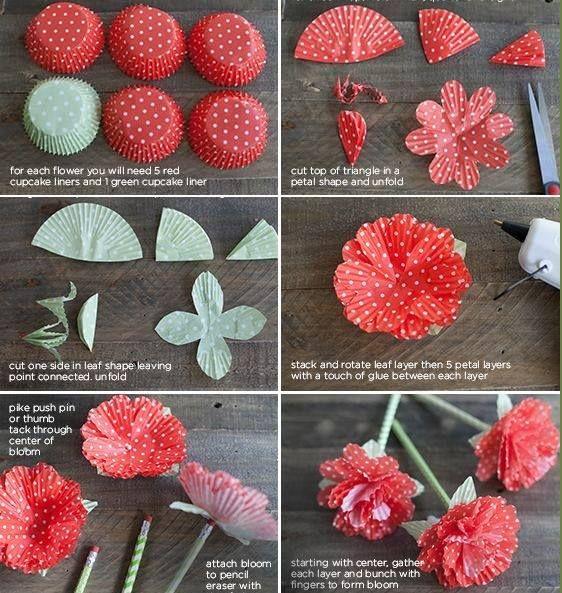 DIY Cupcake Liner Flower Craft | Handy