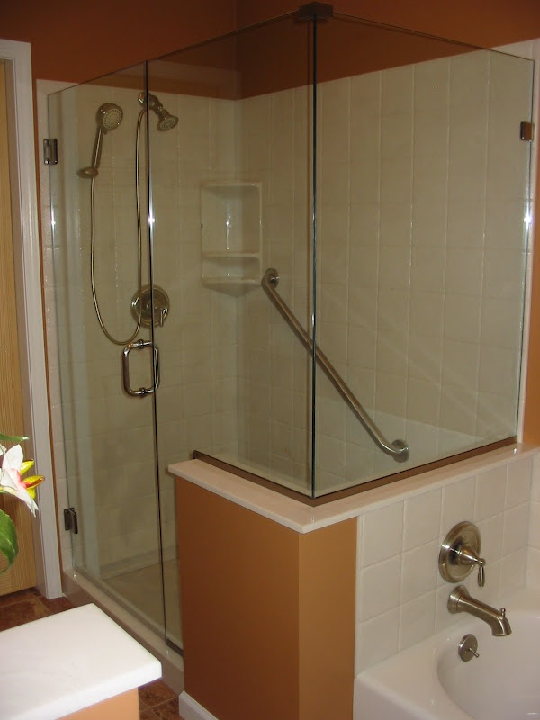 Cultured Marble Shower Stall And Bath Tub Master Bath