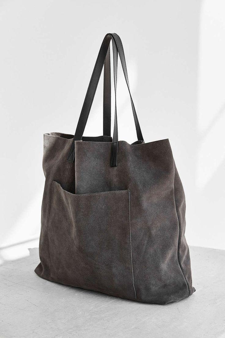 Bdg Suede Pocket Tote Bag School Pinterest Bags