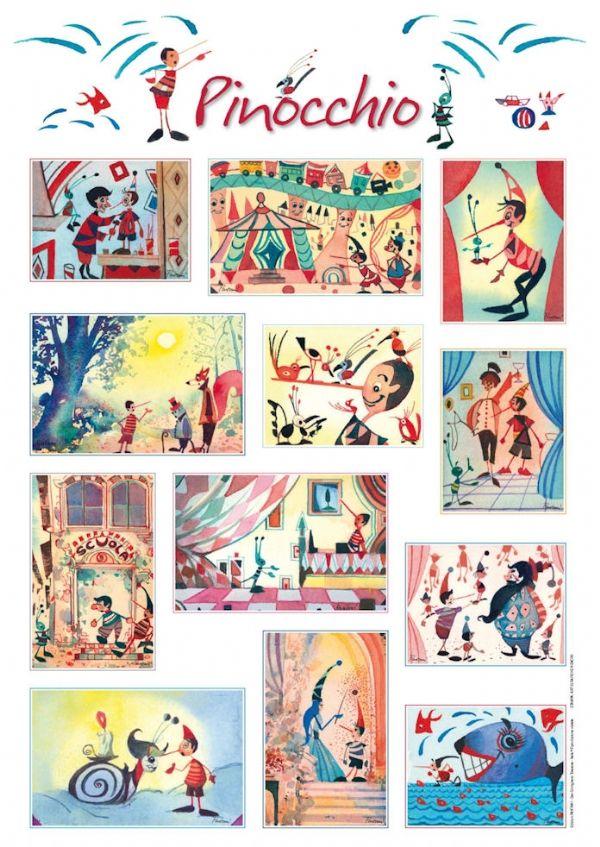 Poster LA STORIA DI PINOCCHIO - Stampe di Massimo Pantani, Pantani Arte San Gimignano (Siena)
