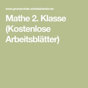 12 best Arbeitsblätter Mathematik 1 images on Pinterest | Free ...
