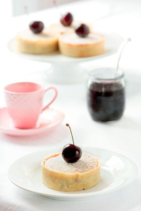 ... : Cherry Bakewell Tartelettes With Cherry Pit Ice Cream Milkshakes