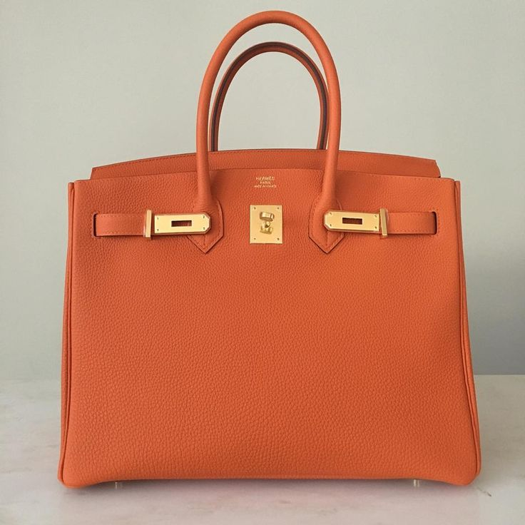 Hermès 35cm Birkin | Orange Togo Leather | Gold Hardware | 2015/T