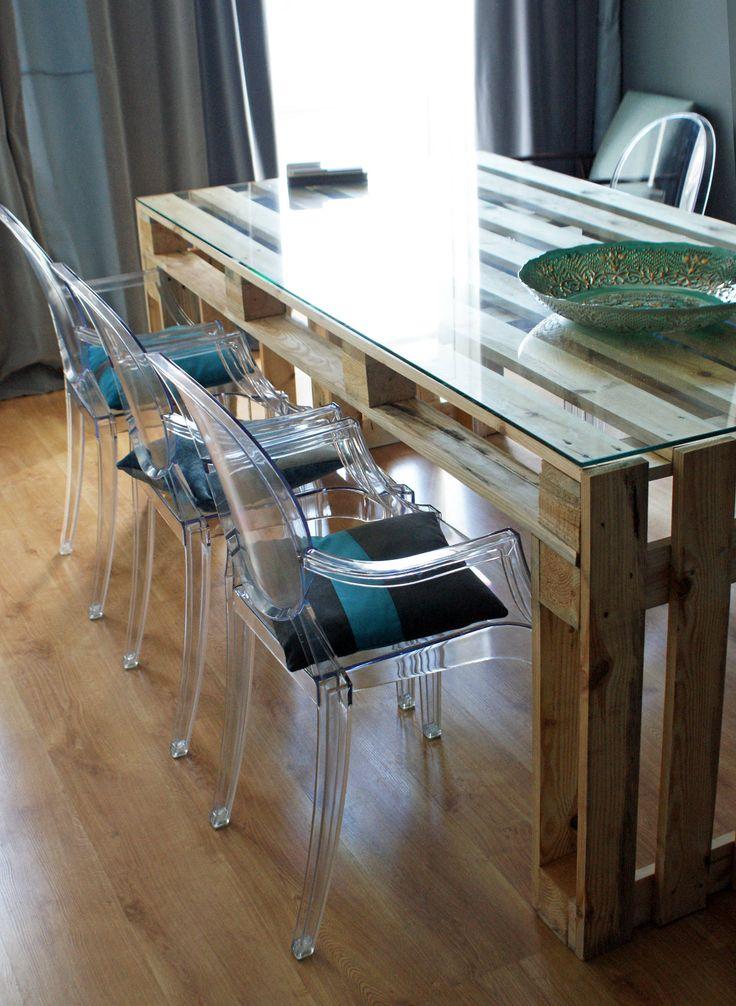 Stół z palet do JADALN : Mesas de Fabryka Palet