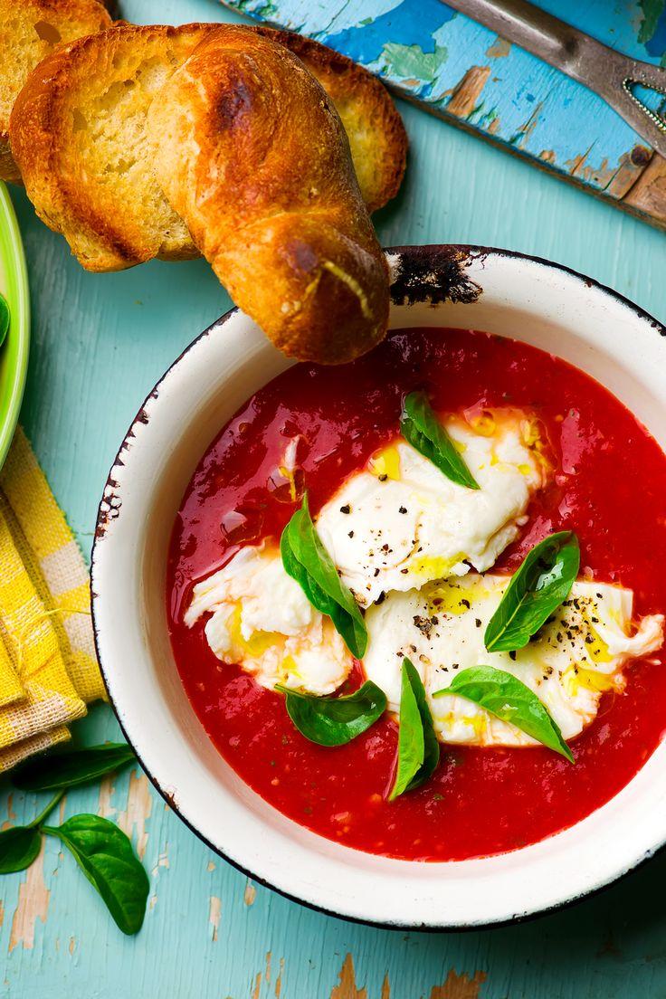 Томатный суп «Капрезе»