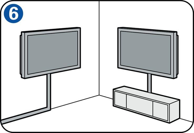 Da ein Flachbildfernseher keine sperrige Bildröhre besitzt, lässt er sich wie ein Gemälde an der Wand aufhängen. Sie können genauso gut einen stilvollen TV-Ständer kaufen, in dem auch die Kabel verschwinden. Verschiedene Montagesysteme sind erhältlich, beispielsweise feste und verstellbare. Deshalb müssen Sie zunächst entscheiden, welche Art für Sie in Frage kommt. #Flachbildfernseher #Skilhelps #DIY