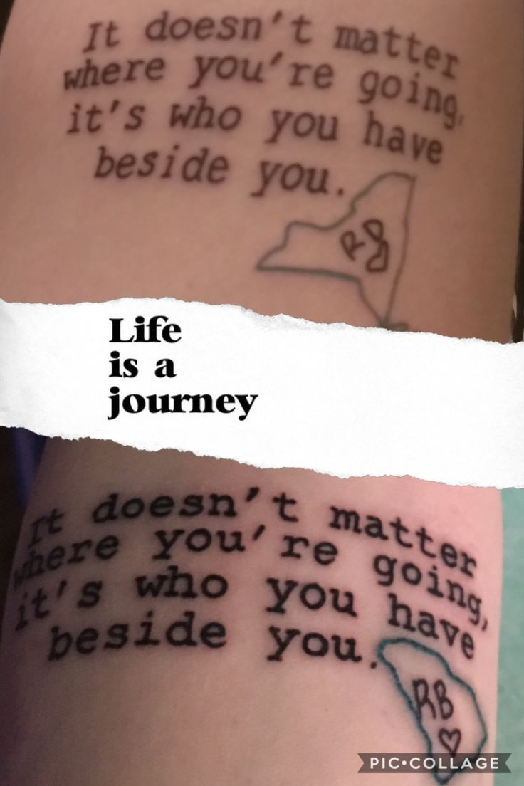 It s doesn t matter where you re going it s who you have beside you same quote different states and hand written initials so cute