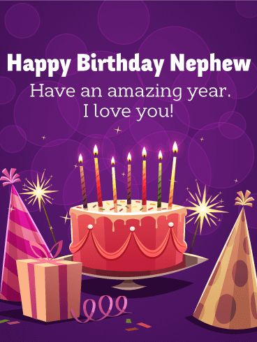 Have an Amazing Year - Happy Birthday Card for Nephew
