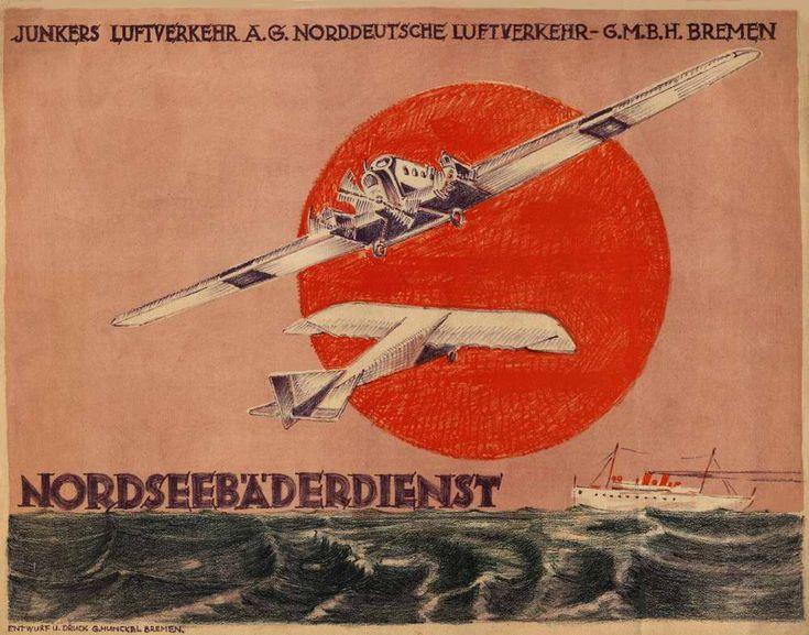 Немецкие авиационные рекламные плакаты 20-х - 30-х годов (часть 1) Подборка изображений Предыдущая подборка из данной серии - Французские авиационные рекламные…