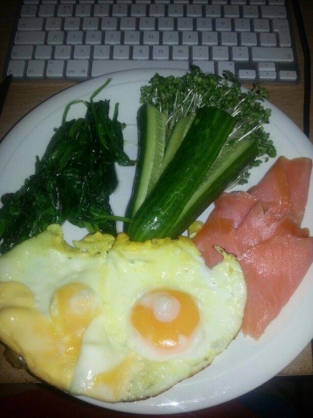 eggs and smoked salmon