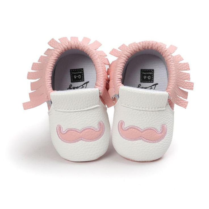 0-18M Newborn Infant Toddler Lovely Baby Boys Girls Shoes Beard Tassel Crib  Anti-