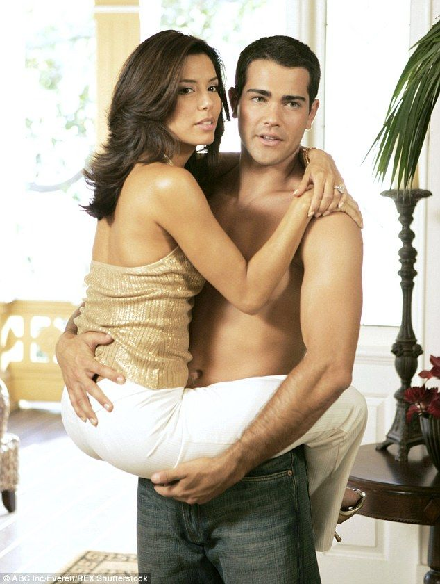 Ooo la la: Eva (Gabrielle Solis) and Jesse (John Rowland) had an on-screen affair during the first season of Desperate Housewives, which aired from 2004 to 2005