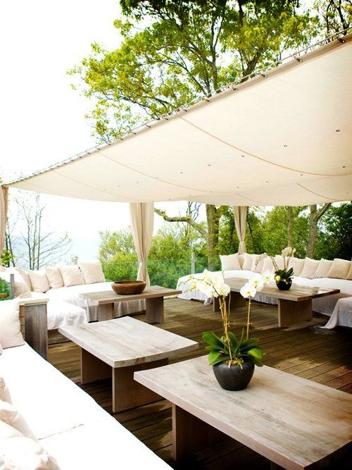 Simple but effective ... shaded but still feels like you're living outdoors…