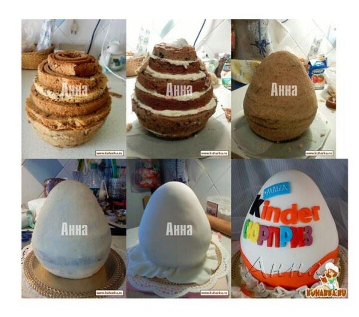 Kinder egg cake   Techniques/Tutorials   Pinterest ...