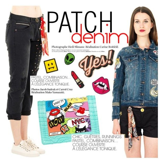 Patch obsession! by thequeenstore on Polyvore featuring moda, Superpants and Steve J. Key