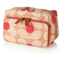 Orla Kiely Medium Wash Bag in Pink | Orla Kiely | Designer Toiletry Bags | Travel Accessories | Ladies Gift Ideas | Gifts For Her | Christmas Gifts | Designer Gifts | Available at Cuckooland