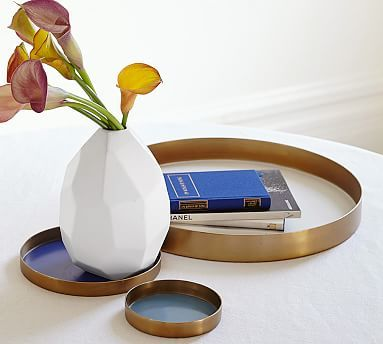 Jeanie Round Trays, Set of 3 #potterybarn