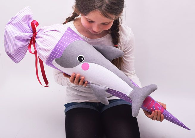 Schultüte+Delfin+von+Josefines+Kinder+auf+DaWanda.com