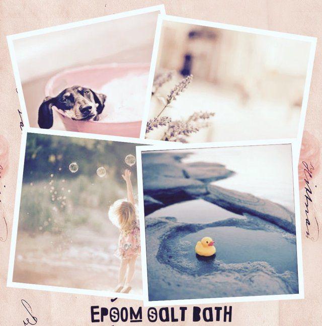 Epsom Salt Bath Recipe #StressRelief #Energizer