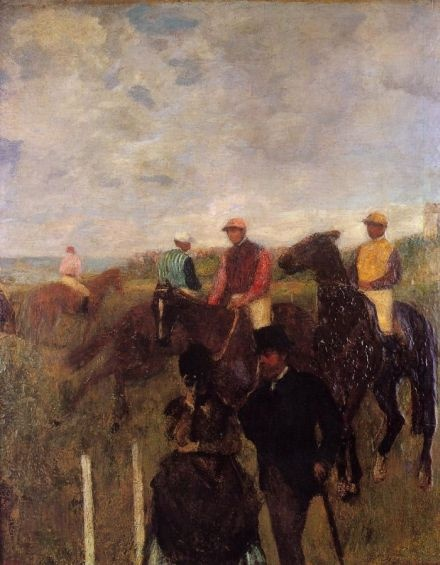 Degas - a day at the races, purchased by Charles who would go to see his uncle Maurice Ephrussi's famous race horses.