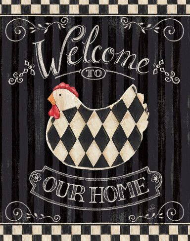 """Hello Ladies...today ( tonight ) we will do a  """"Gingham  Cottage in Black & White"""" inside and out ...Enjoy..greetings Thea ♥"""