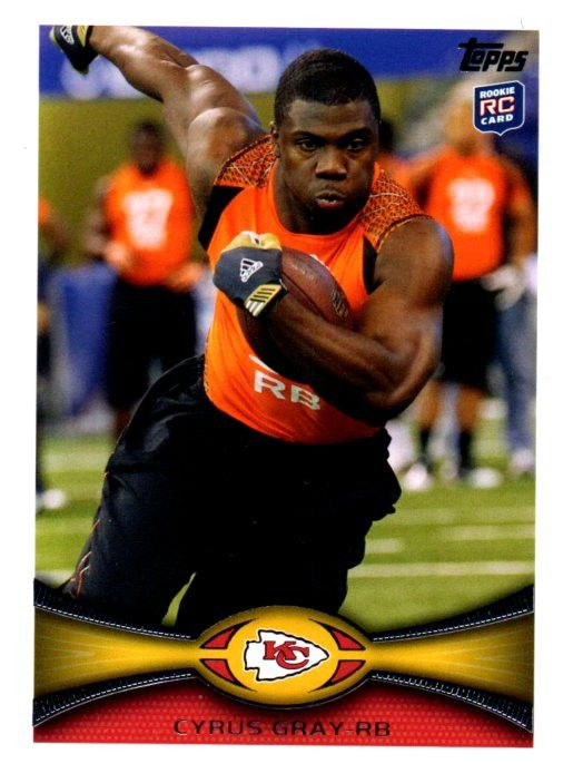 2012 Topps Cyrus Gray Rookie Card Kansas City Chiefs