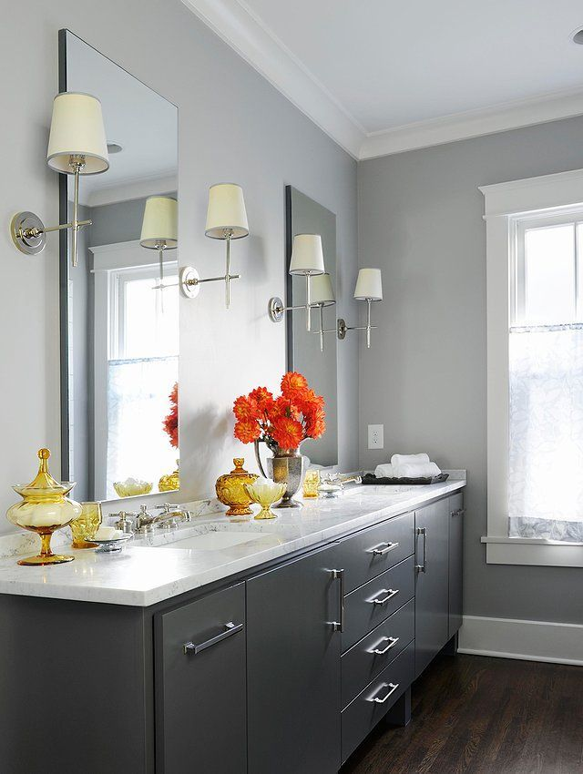 The 12 Best Bathroom Paint Colors Our Editors Swear By Whitebathroompaint Ash Gray Bat Best Bathroom Paint Colors Bathroom Color Schemes Bathroom Paint Colors
