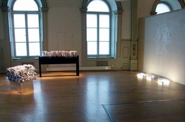 Tres formas de Secretos (2014) de Voluspa Jarpa y La Sirena (2014) de Claudia Missana. Cortesía Stiftelsen gallery 3, 14