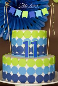 (I) (L)ove (D)oing (A)ll Things Crafty!: Simple Blue and Green Birthday Party Theme - Tomas' 11th Birthday!