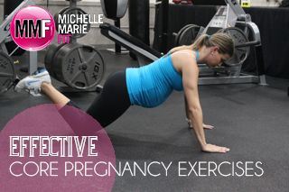 """These 3 #PREGNANCY #EXERCISES are """"Safe & Effective"""" to do for the #CORE & #ABS during Pregnancy. Helps prevent the #POSTPARTUMPOOCH"""