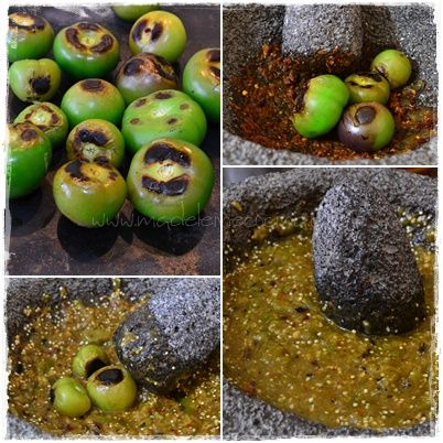 Salsa verde molcajeteada