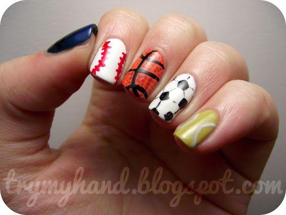 Best 25 basketball nails ideas on pinterest cal basketball basketball nail designs google search prinsesfo Choice Image