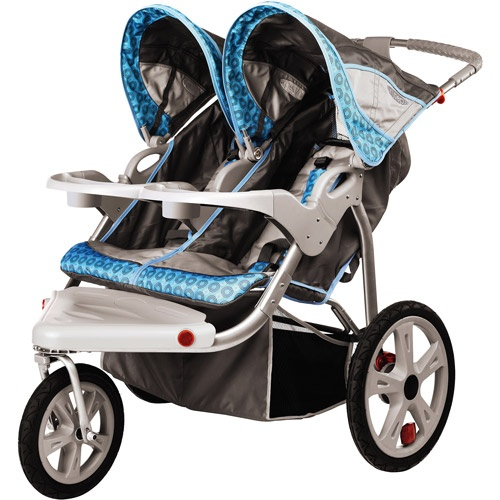 InStep - Safari Double Jogging Stroller, Blue, $149.00 from Walmart