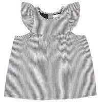 LOUIS LOUISE Lucette Blouse in Black and White. Striped top with frilled sleeves from LITTLECIRCLE Spring Summer 2016 Girls Collection. Shop now: littlecircle.co.uk