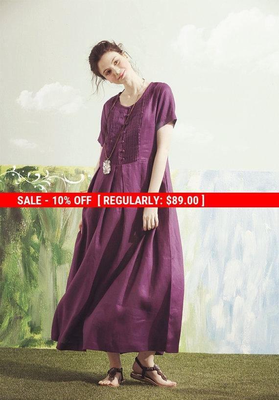 VENTA púrpura vestido maxi vestido morado de Dama de honor