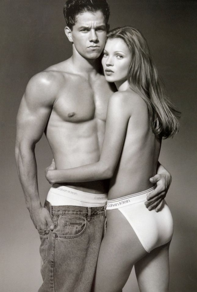 Mark Wahlberg and Kate Moss, Calvin Klein Underwear.  Happy Birthday Kate Moss From the 42 Most Important Men In Your Life!