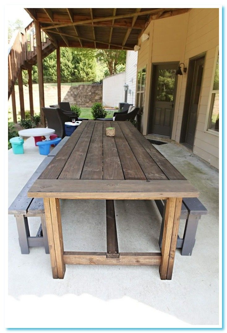 52 Reference Of 6 Chair Outdoor Table In 2020 Diy Patio Furniture Cheap Wood Patio Table Diy Patio Table