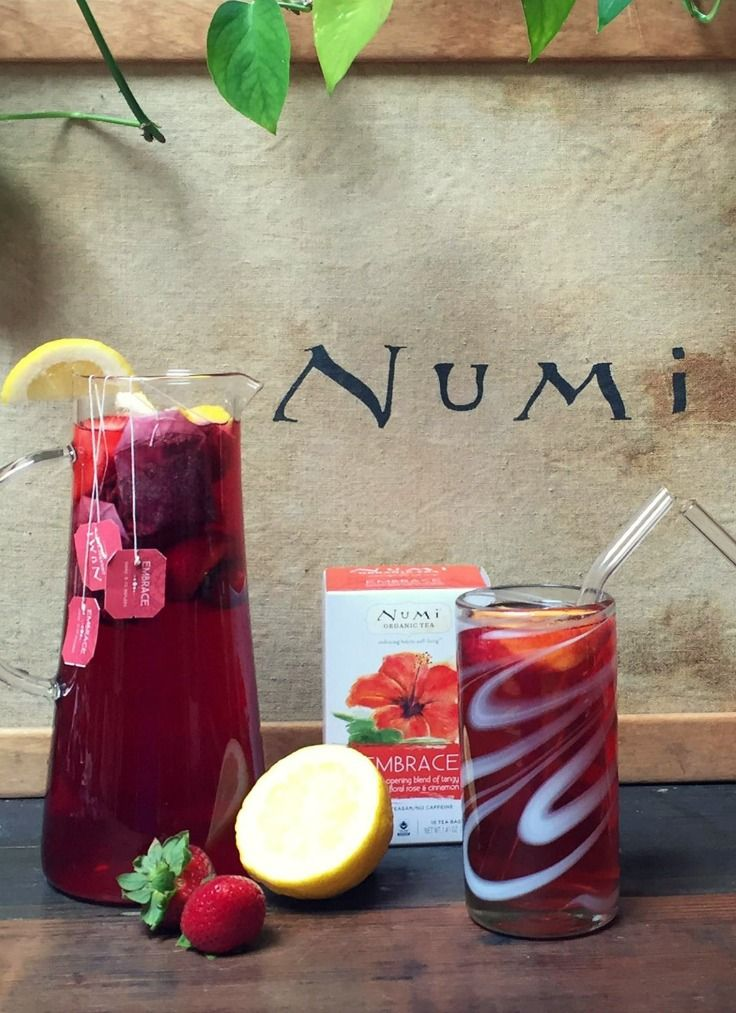 Numi Organic Tea Embrace | A sweet surprise of tanginess envelops the flavor of this heart-warming blend. A bouquet of flowers – sensual hibiscus, soothing lavender, calming chamomile and the afterglow of rose – enhance with a bright floral aroma. via: @numitea