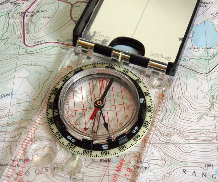 get best compass (get one with mirror-multi-use) & maps. could save your life.