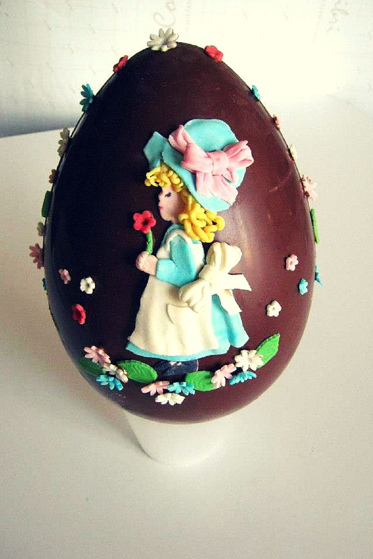 a wonderful #chocolate #easter # eggs with #sarahkay sugarpaste shape! gnummy