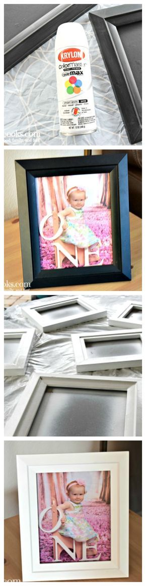 Learn how to spray paint black picture frames white with this easy to follow tutorial! via @aileencooks