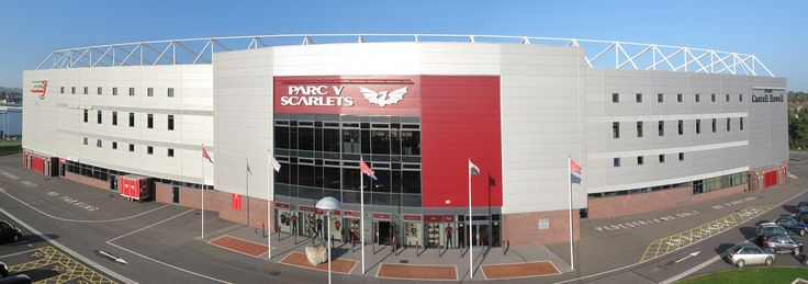 Llanelli's new Parc-y-Scarlets stadium - Welsh Rugby rules OK