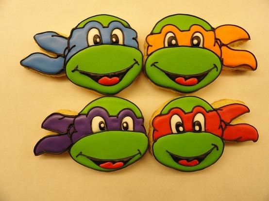 Image detail for -NINJA TURTLE COOKIES: Ninjas Turtles Cookies, Birthday Parties, Tmnt Cookies, Teenage Mutant Ninjas, Parties Ideas, Cookies Cakes, Tmnt Parties, Cartoon Character, Birthday Ideas