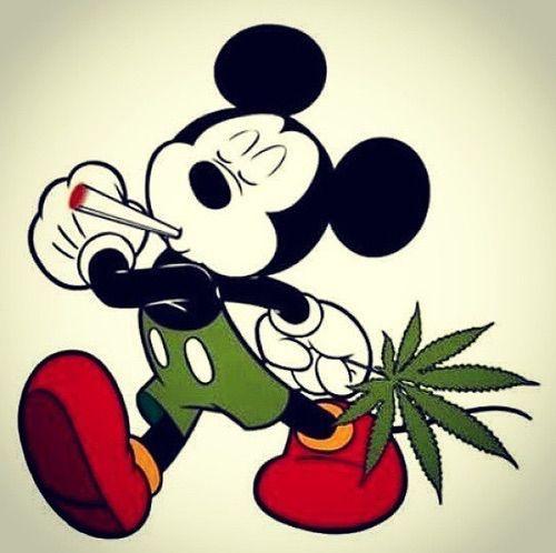 Mickey Mouse Marijuana Art - CannabisTutorials.com