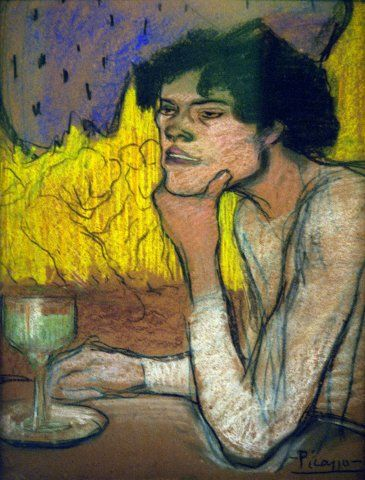 "Reproduction of ""Absinthe""painting by Pablo Picasso"